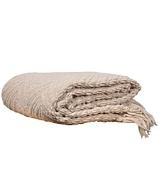 Knit Zig Zag Textured Woven Micro Chenille Throw