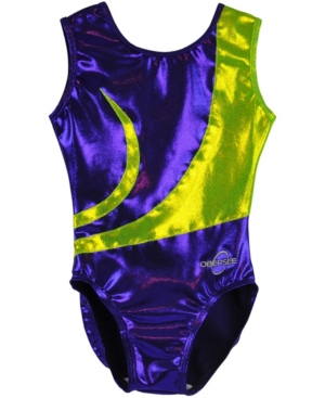 Obersee Kids' Toddler Girls Gymnastics Leotard In Purple