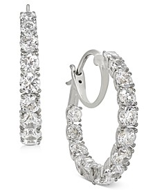 "Small Cubic Zirconia Hoop Earrings, 0.88"", Created for Macy's"