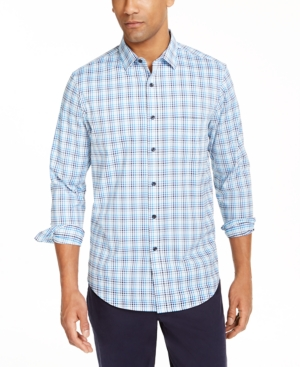 Men's Performance Ombre Plaid Shirt with Pocket