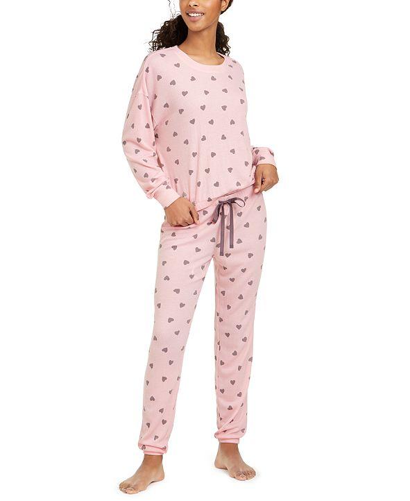 Jenni Printed Thermal Knit Pajamas Set, Created for Macy's