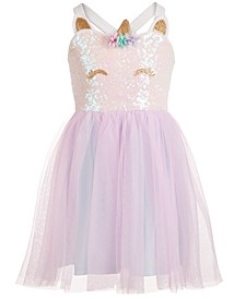 Little Girls Sequin Unicorn Dress