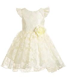 Little Girls Chiffon Burnout Dress