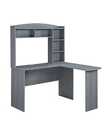 Techni Mobili L-Shaped Desk w/ Hutch