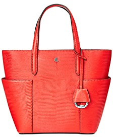 Lizard Embossed Leather Carlyle Tote