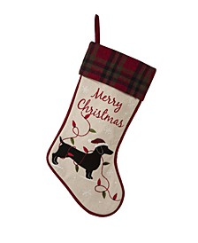 Fabric Christmas Stocking - Dachshund