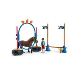 Schleich Farm World, Pony Agility Race Playset With Toy Figures