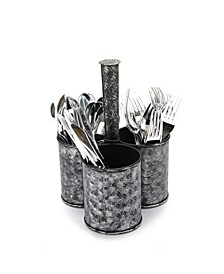 Print Galvanized 3 Section Utensil Holder