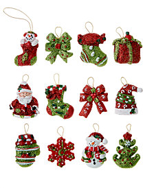 Kurt Adler Set of 12 Petite Treasures Mini Ornaments