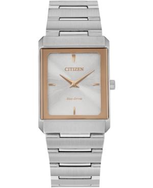 Eco-Drive Unisex Stiletto Stainless Steel Bracelet Watch 25x35mm