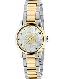 Women's Swiss G-Timeless Two-Tone Stainless Steel Bracelet Watch 27mm