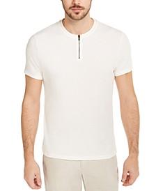 Men's Quarter-Zip Terry T-Shirt, Created for Macy's