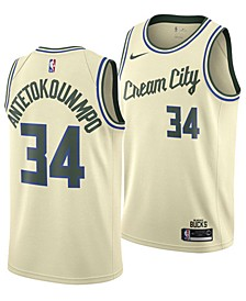 Men's Giannis Antetokounmpo Milwaukee Bucks City Edition Swingman Jersey