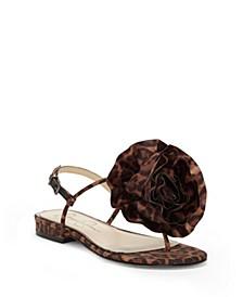 Kirah Flower Flat Sandals