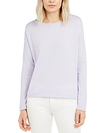 Boxy Roll-Edge Sweater