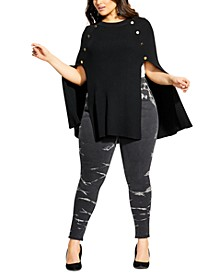Trendy Plus Size Cape Sweater