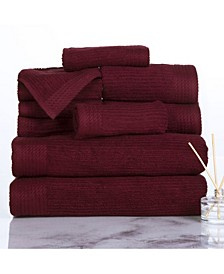 Home Ribbed Cotton 10 Piece Towel Set