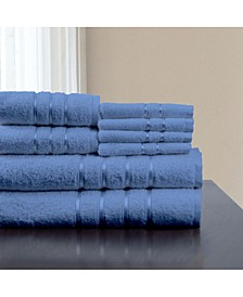 Home 8 Piece Cotton Plush Bath Towel Set