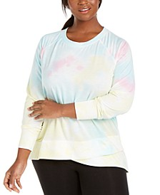 Plus Size Tie-Dye Sweatshirt, Created For Macy's