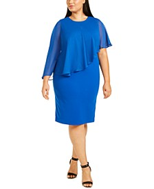 Plus Size Chiffon Popover Dress
