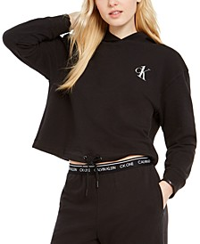 CK One Cropped French Terry Lounge Hoodie