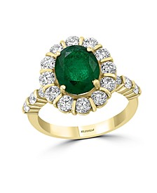 EFFY®  Emerald (2 1/6 ct.t.w.) and Diamond (1 1/2 ct.t.w.) Ring in 14K Yellow Gold