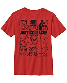 DC Comics Little and Big Boys The Justice League Short Sleeve T-Shirt