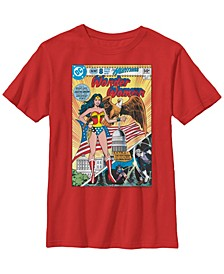 DC Comics Little and Big Boys Classic Wonder Woman Comic Short Sleeve T-Shirt