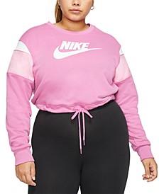 Plus Size Contrast-Trim Sweatshirt