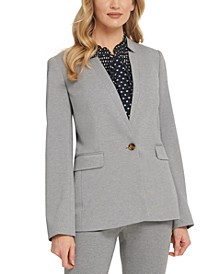 Petite Notch-Collar One-Button Blazer