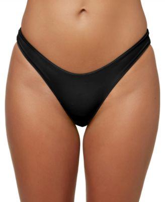 Juniors' Salt Water High-Leg Bikini Bottoms