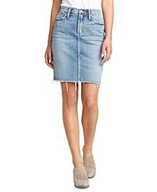 Frisco Denim Pencil Skirt