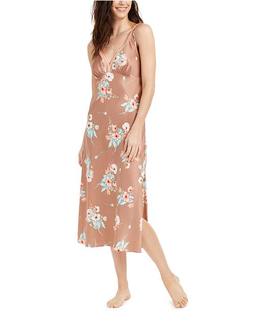 INC International Concepts INC Floral-Print Long Nightgown, Created For Macy's
