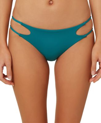 Juniors' Salt Water Solids Cutout Bikini Bottoms