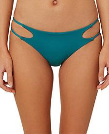 O'Neill Juniors' Salt Water Solids Cutout Bikini Bottoms