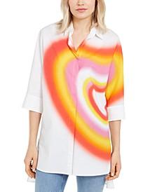 Cotton Printed Tunic Shirt