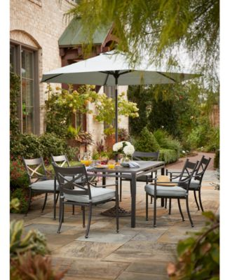 Montclaire Outdoor Aluminum 9-Pc. Dining Set (64