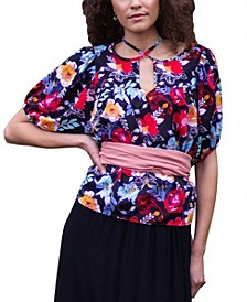 Taryn Floral Bubble Sleeve Top