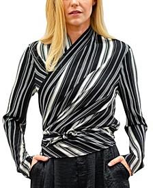 Livia Long Sleeve 4-Way Convertible Stripe Top
