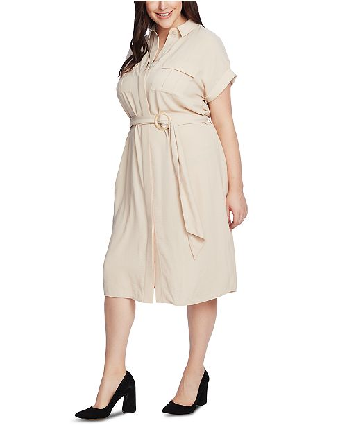 Vince Camuto Plus Size Utility Shirtdress