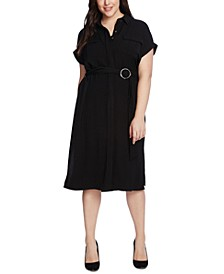 Plus Size Utility Shirtdress