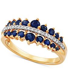 Sapphire (1 ct. t.w.) & Diamond (5/8 ct. t.w.) in 10k Gold