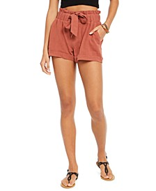 Juniors' Tie-Waist Gauze Shorts