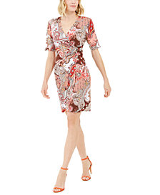 Connected Petite O-Ring Paisley Dress