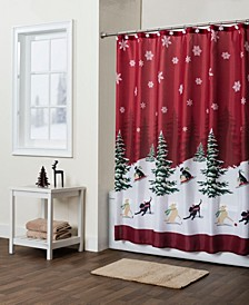 Scenic Tree Shower Curtain with Hook Set