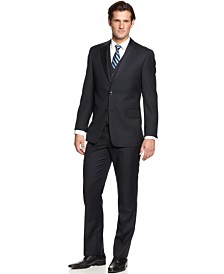 Tommy Hilfiger Navy Tonal Stripe Classic-Fit Suit Separates