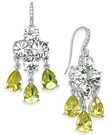 Silver-Tone Crystal & Stone Chandelier Earrings, Created for Macy's