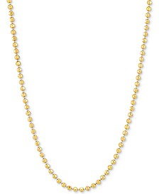 """Bead Link 30"""" Chain Necklace in 18k Gold-Plated Sterling Silver"""