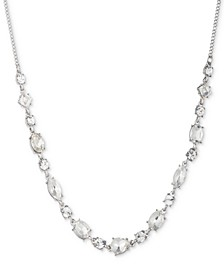 """Silver-Tone Crystal Statement Necklace, 16"""" + 3"""" extender"""