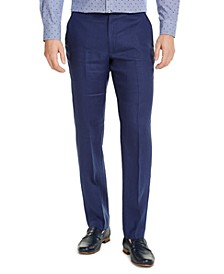 Men's Classic-Fit Solid Linen Dress Pants
